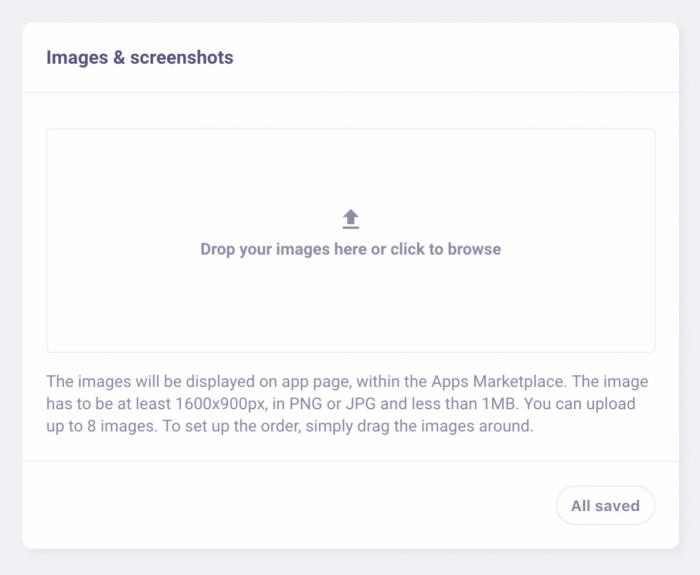 LiveChat Developer Console - Upload Screenshots