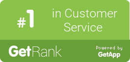 GetRank Badge - LiveChat Number one in customer service