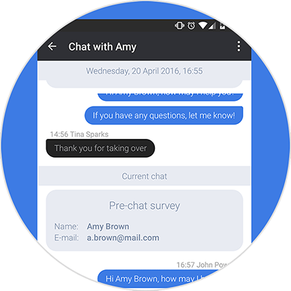 Supervise LiveChat chats