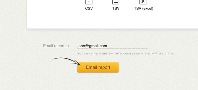 Emailing a report in LiveChat
