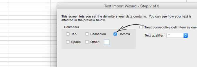 Selecting the comma separator in LiveChat