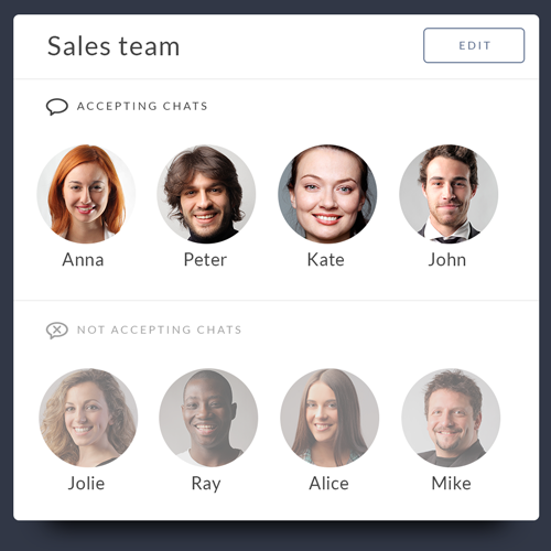 Feature list: Team management - Agent account management