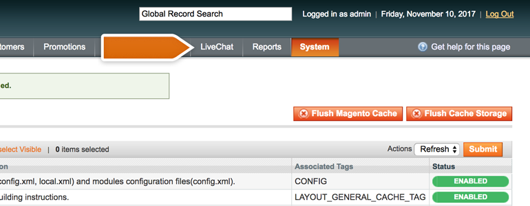 Click on LiveChat to configure the plugin
