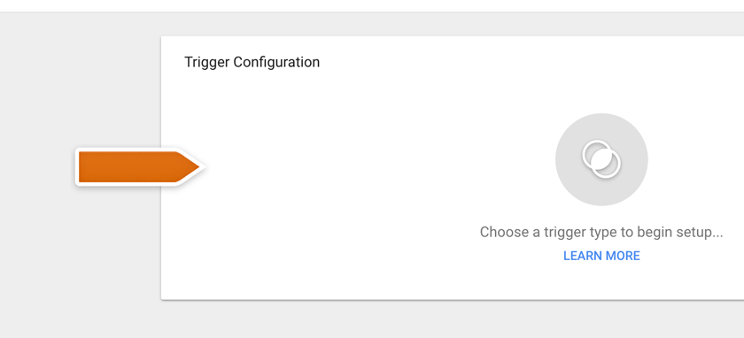Clicking on Trigger Configuration