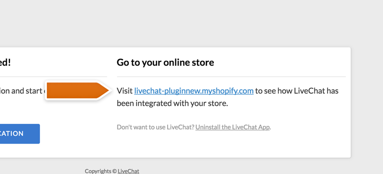 Testing LiveChat on Shopify