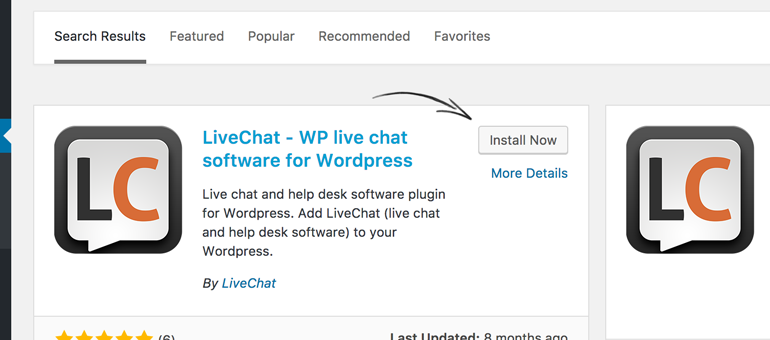 Install LiveChat for WordPress