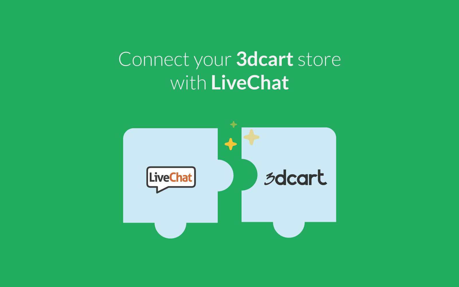 LiveChat integrates with 3dcart