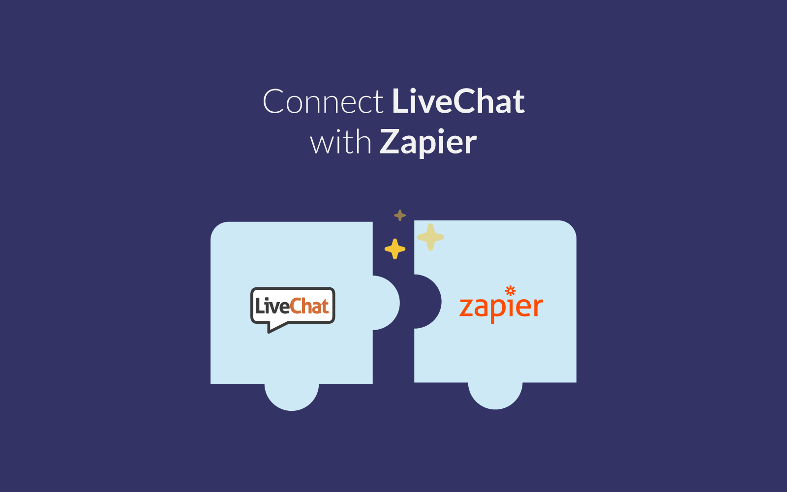 LiveChat integrates with Zapier
