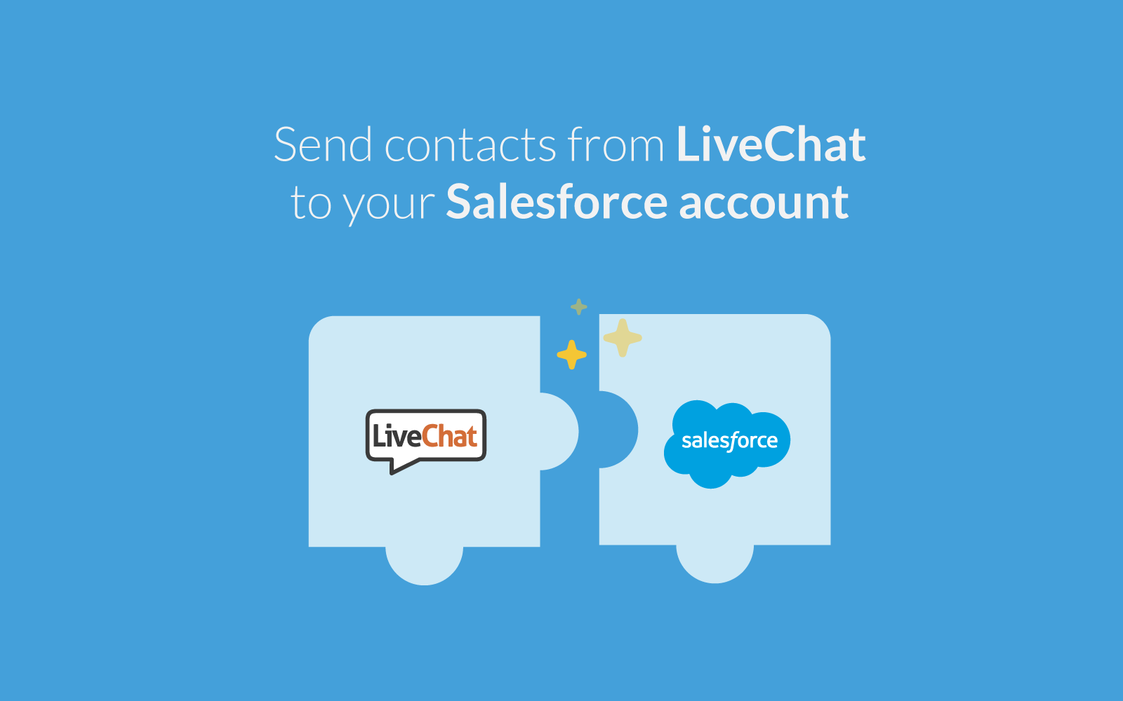 LiveChat integrates with Salesforce