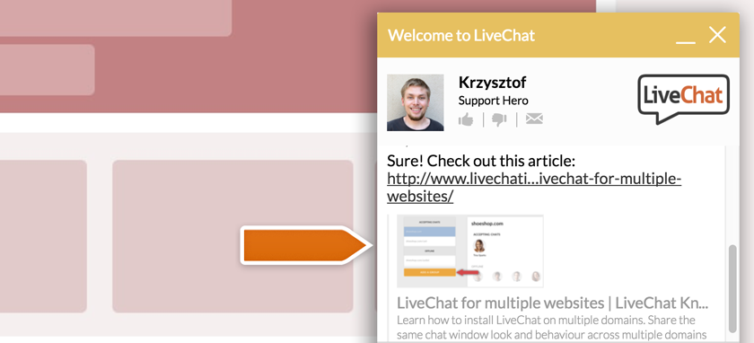 LiveChat integrates with OpenGraph!