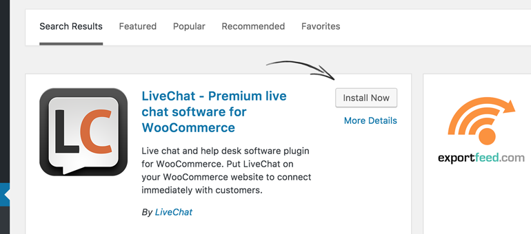 Install LiveChat for WooCommerce