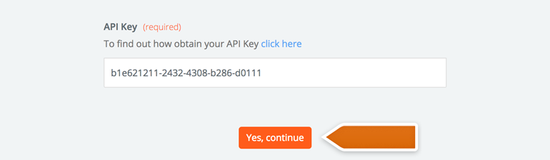 Provide your Project Manager API key