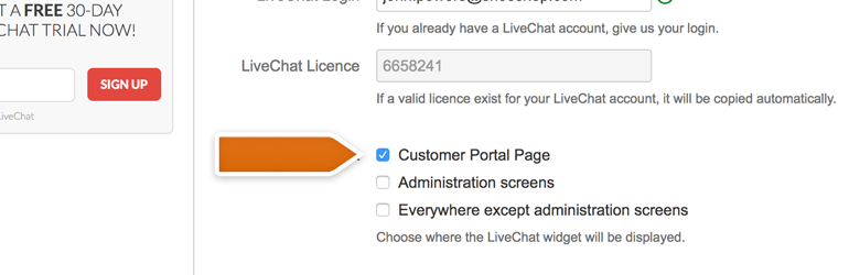Choose where to display LiveChat window in Jira