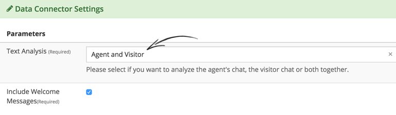 Select which LiveChat data to analyze