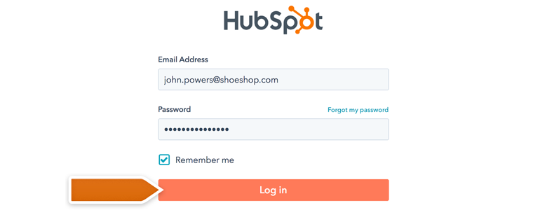 Provide your HubSpot credentials