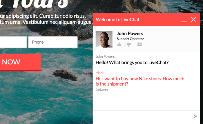 LiveChat for Wishpond landing page