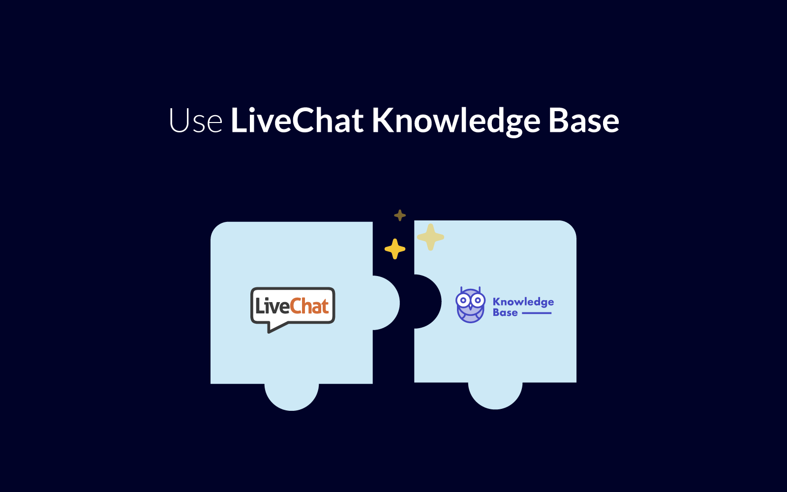 LiveChat + KnowledgeBase
