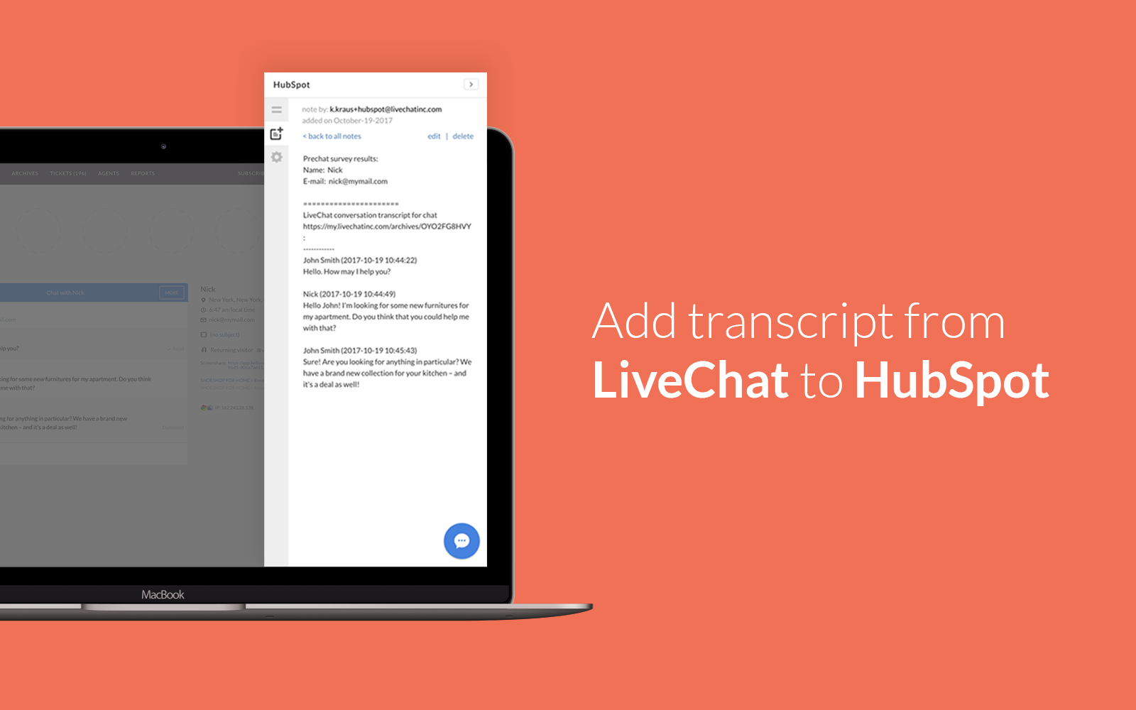 Add transcript to HubSpot