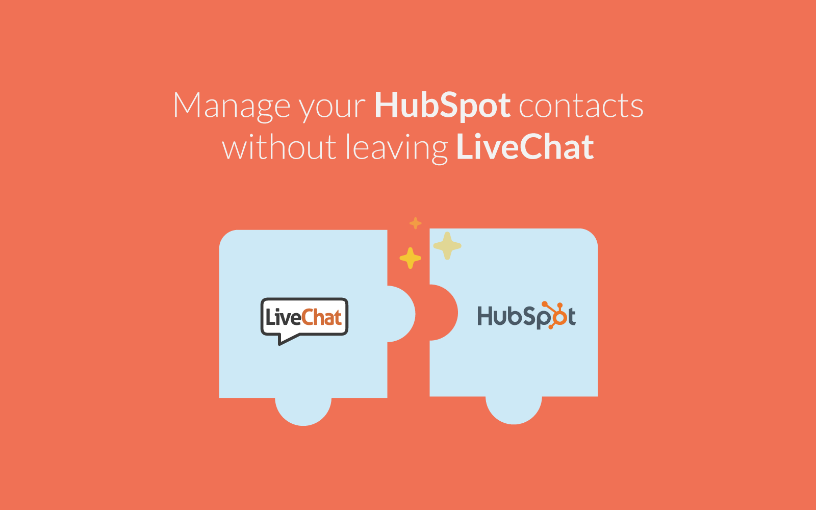 Hubspot integrates with LiveChat