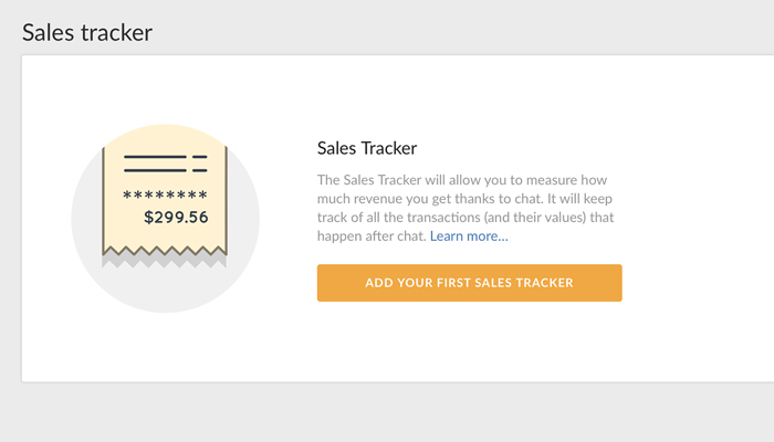 Creating a LiveChat Sales Tracker