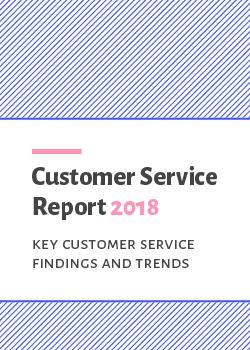 Customer Service Report 2018