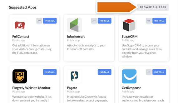 Enable the integration right in your LiveChat's Marketplace